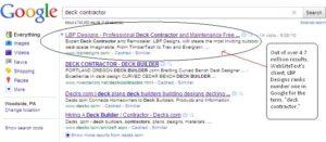 deck contractor gets ranked in Google