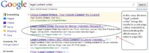 legal content writer gets ranked in google