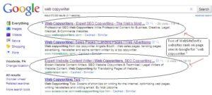 SEO web copywriter gets ranked in Google